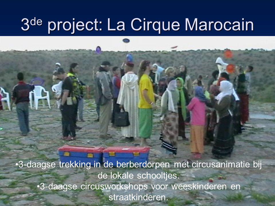 4 de project : l'ambilance Het in orde zetten van de ambulance door leerlingen automechanica Les geven en volgen in Taroudant ivm ehbo en reanimatietechnieken Circusworkshops aan kinderen in Waghlass (berberdorp) Reanimatietechnieken aanleren bij de bewoners van Waghlass Circusslotevent en schenken van de ambulance aan het dorp http://cdoaalstinmarokko.blogspot.com/