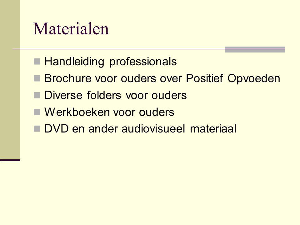 Toepassing in Kind & Gezin Piloot in Antwerpen-stad Gekoppeld aan spreekuur Training opvoedingsconsulenten en RV's Effect-onderzoek Vragen rol artsen.