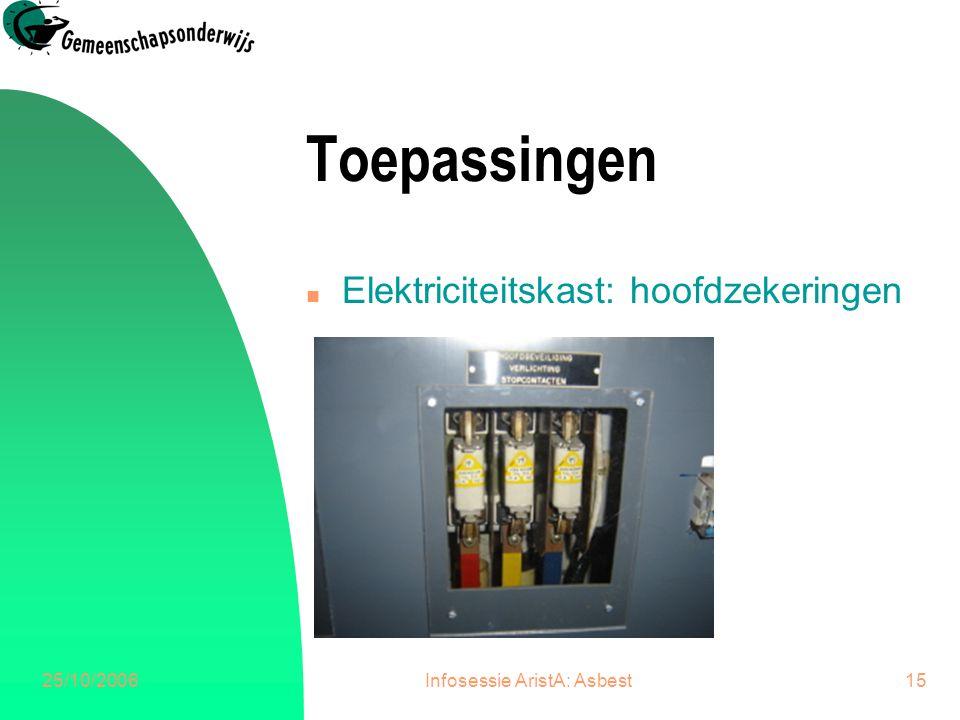 25/10/2006Infosessie AristA: Asbest16 Toepassingen n Gevelpanelen