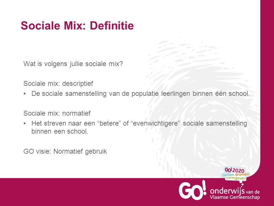 Sociale Mix: Definitie Hanteerbare sociale samenstelling.
