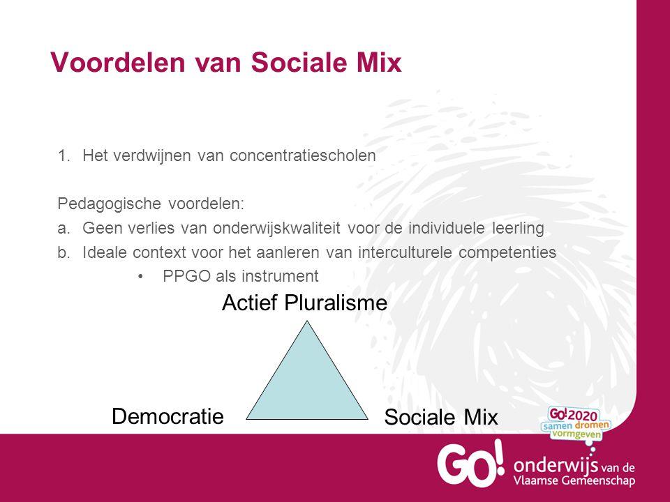Segregatie in het SO oorzaken en aanzet tot oplossingen Wat zijn volgens jullie de oorzaken van segregatie in het SO.