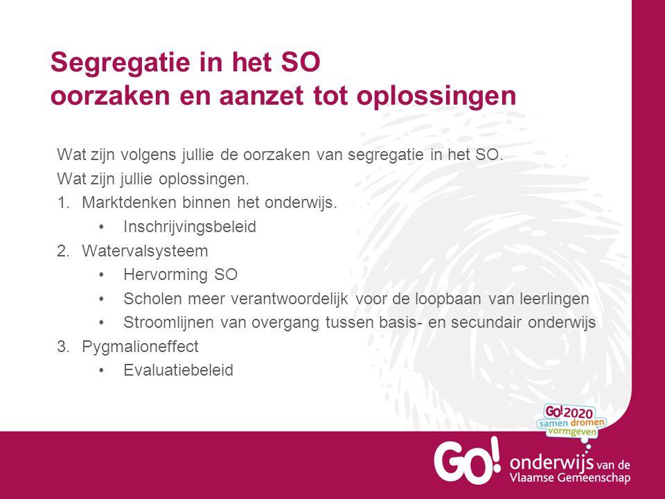 Segregatie in het SO oorzaken en aanzet tot oplossingen GO.