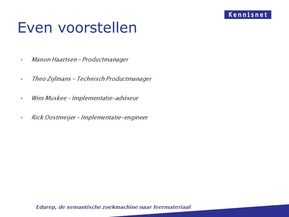 Presentatie Overview activiteiten Edurep 2012 Definitie Wat is Edurep.