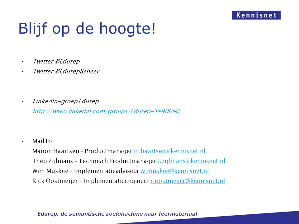 Edurep Sessie 2 ECK-klantdag [12 april 2012]