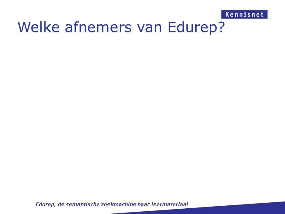Twitter @Edurep Twitter @EdurepBeheer LinkedIn-groep Edurep http://www.linkedin.com/groups/Edurep-3990090 http://www.linkedin.com/groups/Edurep-3990090 MailTo: Manon Haartsen – Productmanager m.haartsen@kennisnet.nl Theo Zijlmans – Technisch Productmanager t.zijlmans@kennisnet.nl Wim Muskee – Implementatieadviseur w.muskee@kennisnet.nl Rick Oostmeijer – Implementatieengineer r.oostmeijer@kennisnet.nl–m.haartsen@kennisnet.nlt.zijlmans@kennisnet.nlw.muskee@kennisnet.nlr.oostmeijer@kennisnet.nl Blijf op de hoogte.