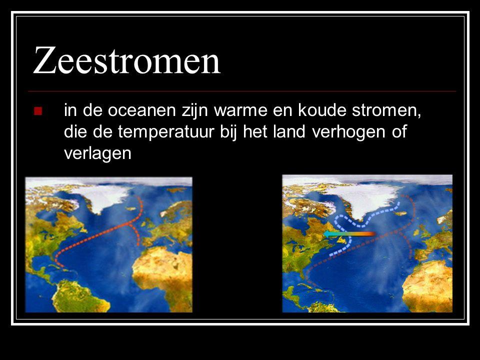 Ligging van gebergten een gebergte kan lucht tegenhouden, waardoor er aan elke kant van het gebergte een ander klimaat kan ontstaan In Noord-Amerika loopt het reliëf N-Z.