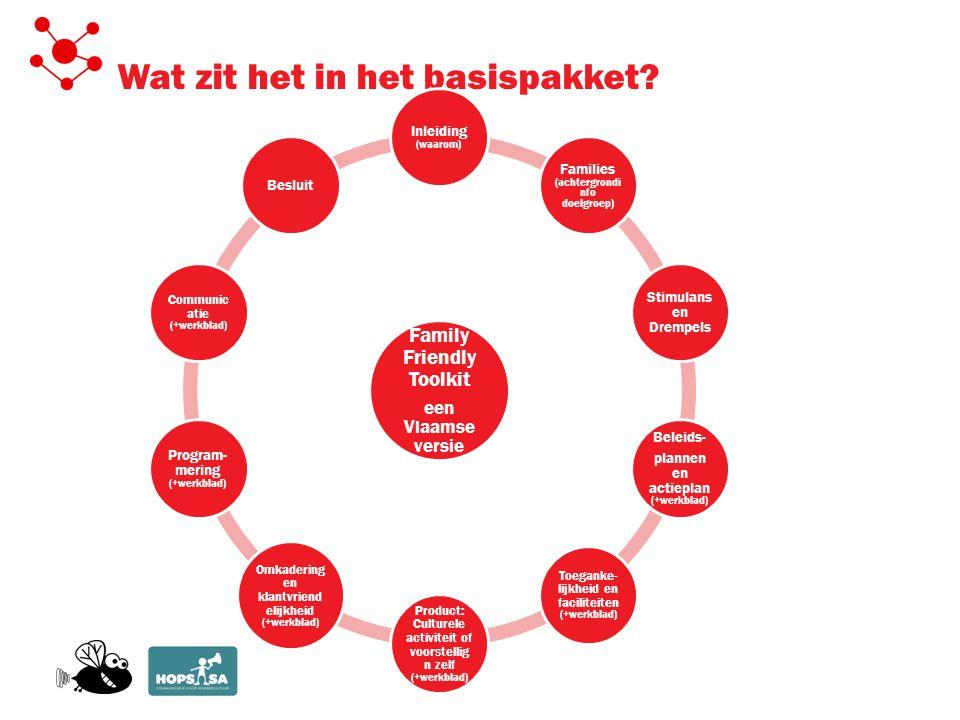 1.Doelgroep Individuele organisaties Sectoren/steunpunten Steden en gemeenten 2.