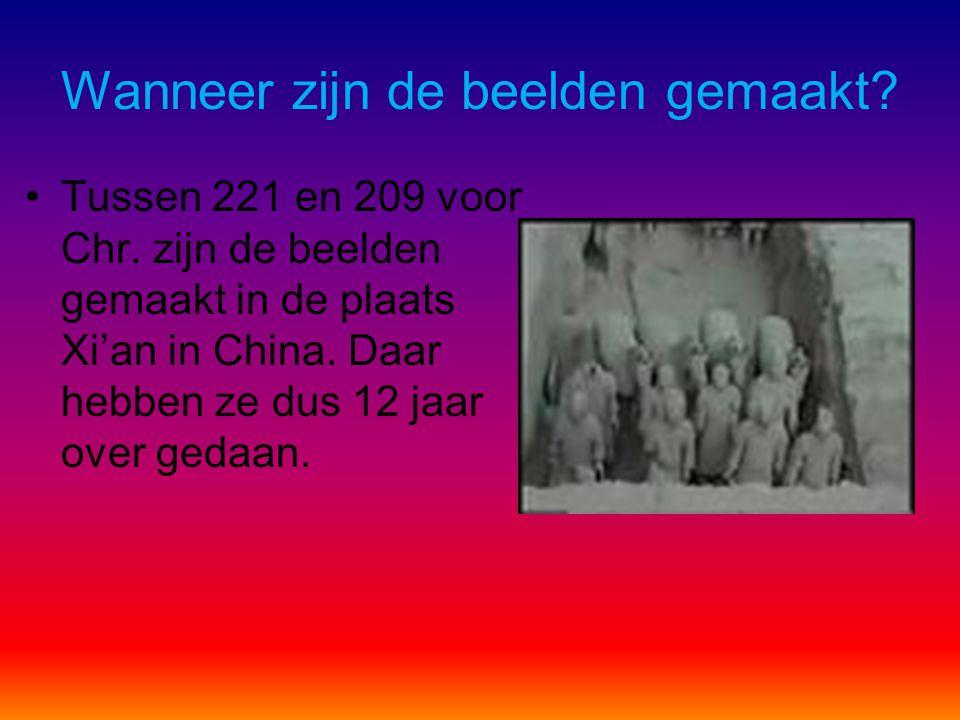 We gaan een filmpje kijken over de terracotta beelden. http://www.youtube.com/watch?v=45y3mb7OLOI