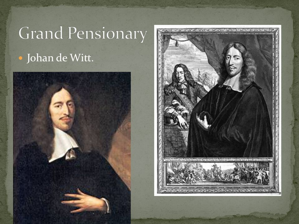 He and his brother Cornelis were anti-Orange.Johan de Witt was very smart and a good politician.