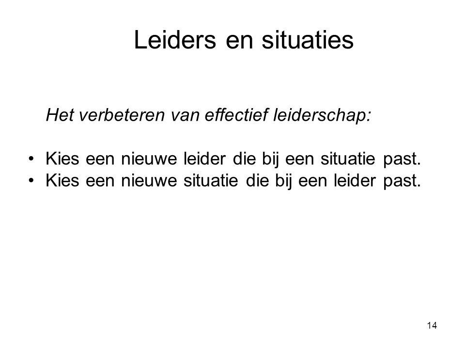 15 Leader-member exchange Leiders maken onderscheid tussen volgelingen.