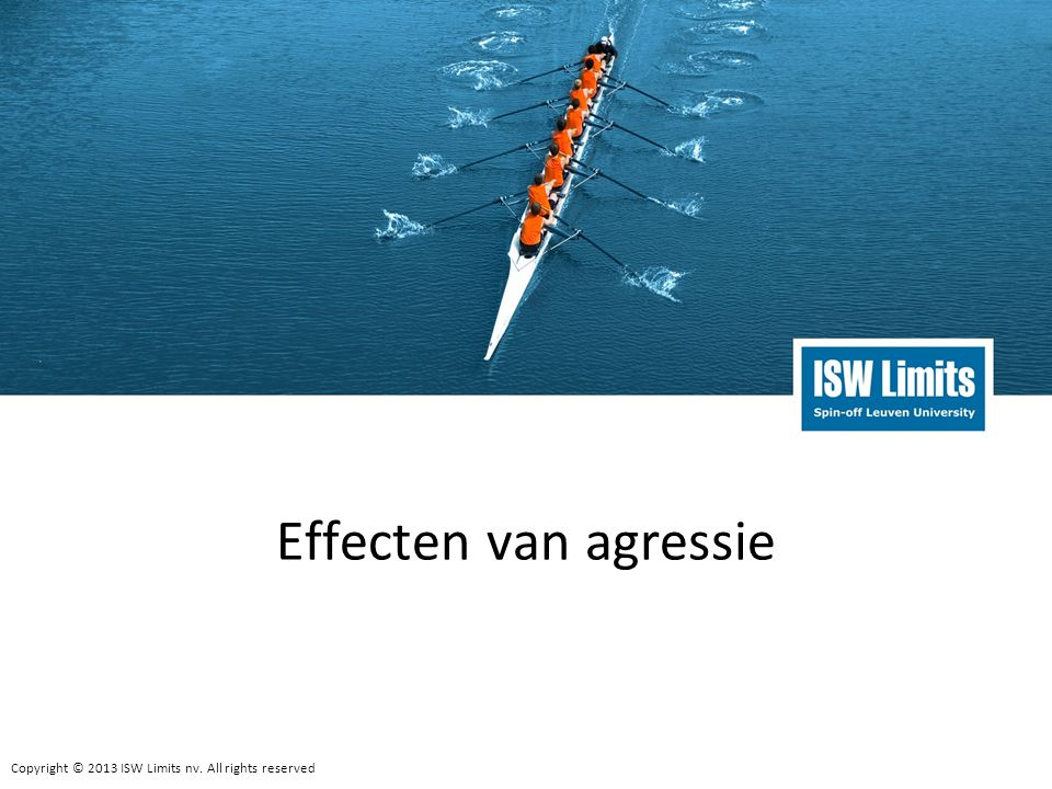 Copyright © 2013 ISW Limits nv.