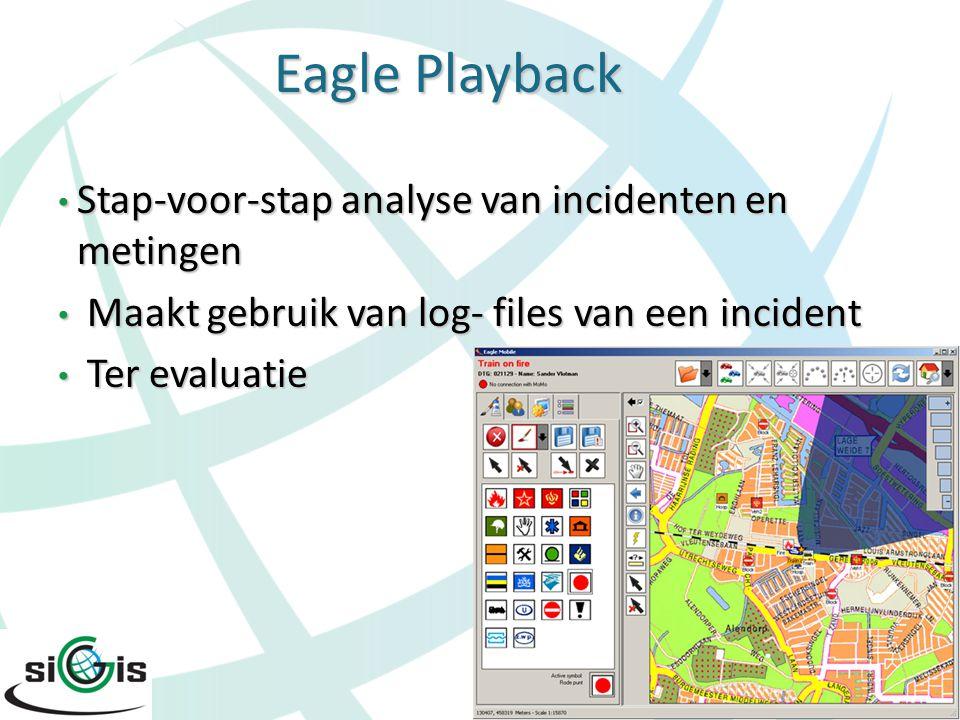 Activiteiten Eagle BV Eagle producten suite Maatwerktoepassingen Adviestrajecten: 'data op orde', GIS in de organisatie, requirementsanalyse, etc Opleidingen: GIS voor Openbare Orde en Veiligheid, productspecifieke opleidingen Zowel nationaal als internationaal