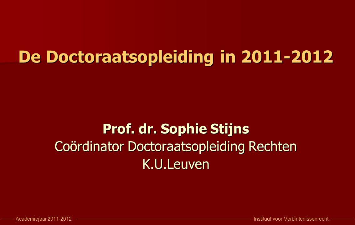 Instituut voor VerbintenissenrechtAcademiejaar 2011-2012 De relevante documenten I.
