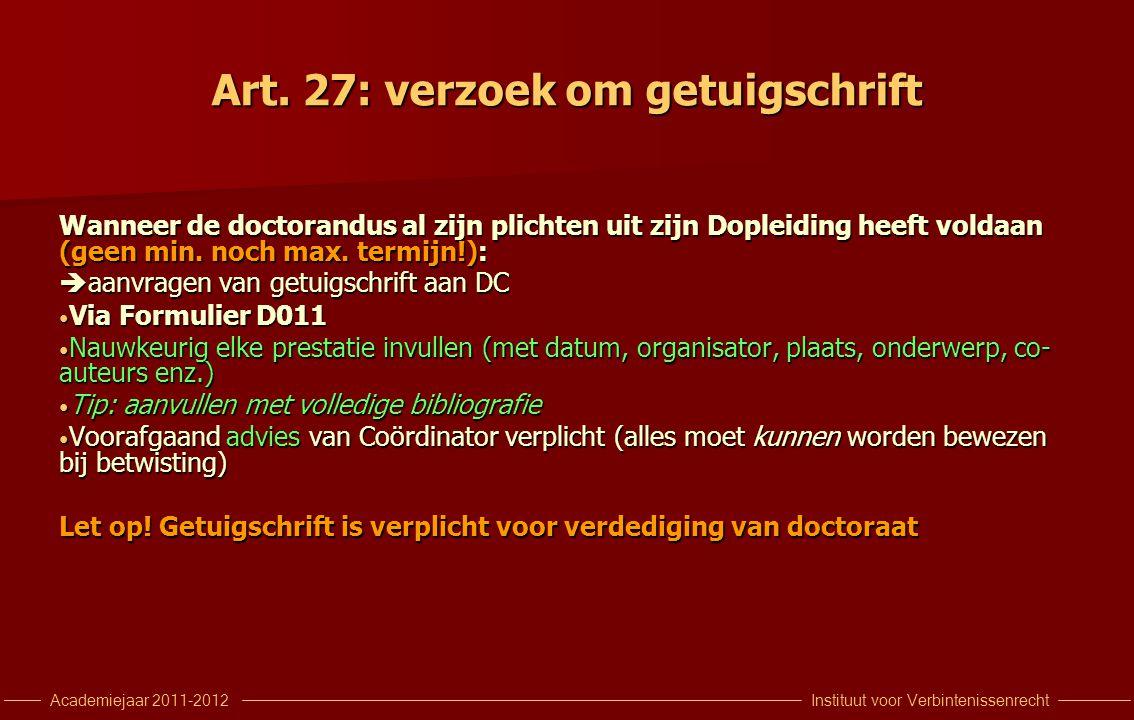 Instituut voor VerbintenissenrechtAcademiejaar 2011-2012 Uw agenda 28/11: DCollege End-Note en Jur.