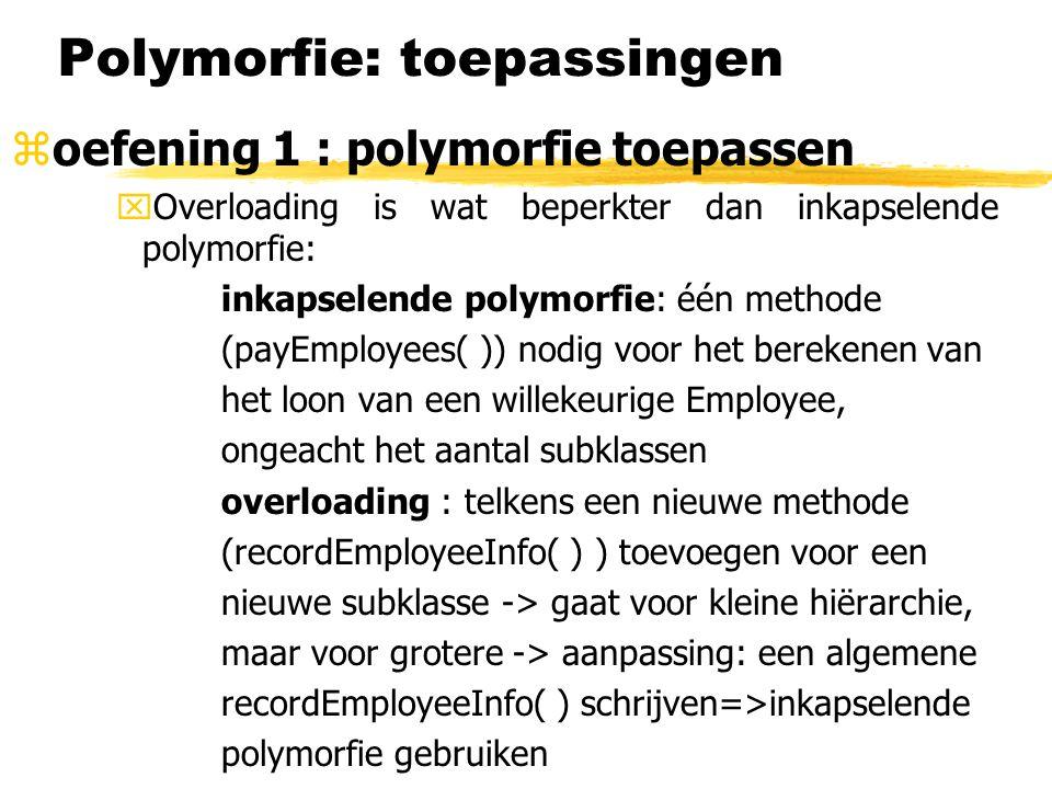 Polymorfie: toepassingen