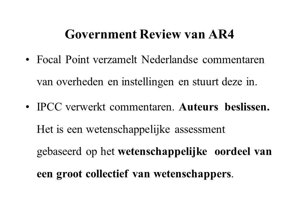 Samenvatting voor Beleidsmakers April 2006: Eerste versie.
