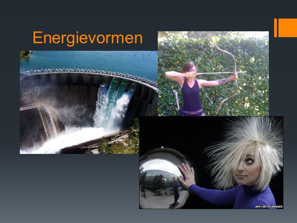 Potentiële energie E p = energie als gevolg van plaats in een krachtveld