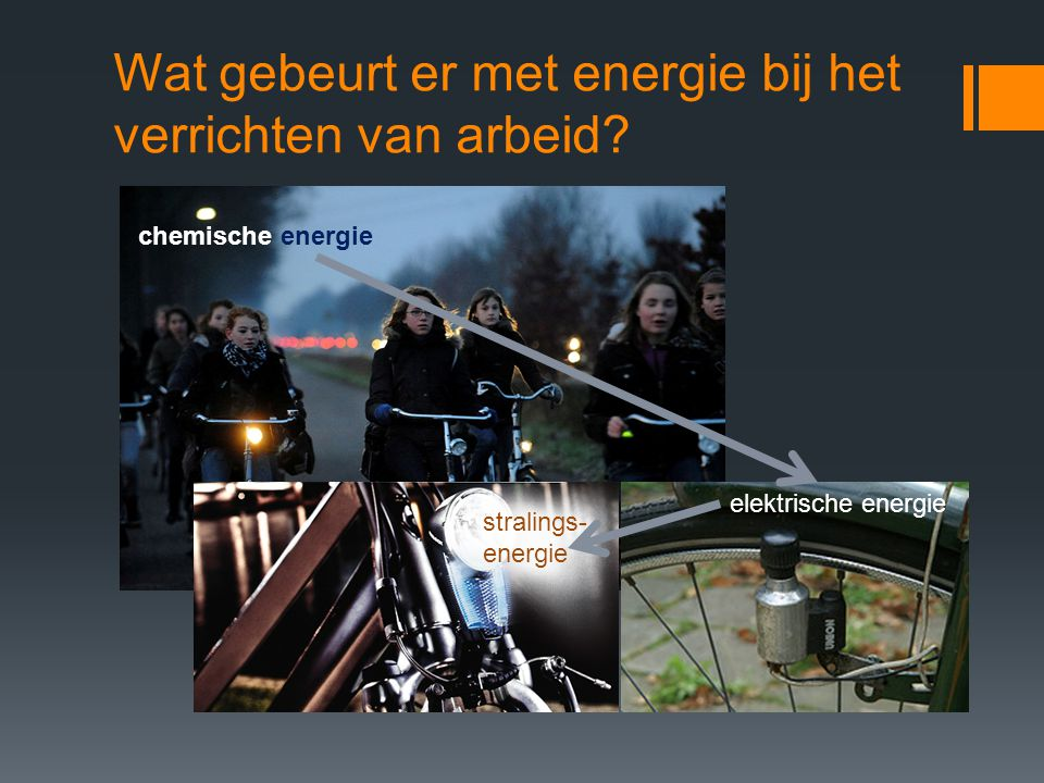 Wat gebeurt er met energie bij het verrichten van arbeid.