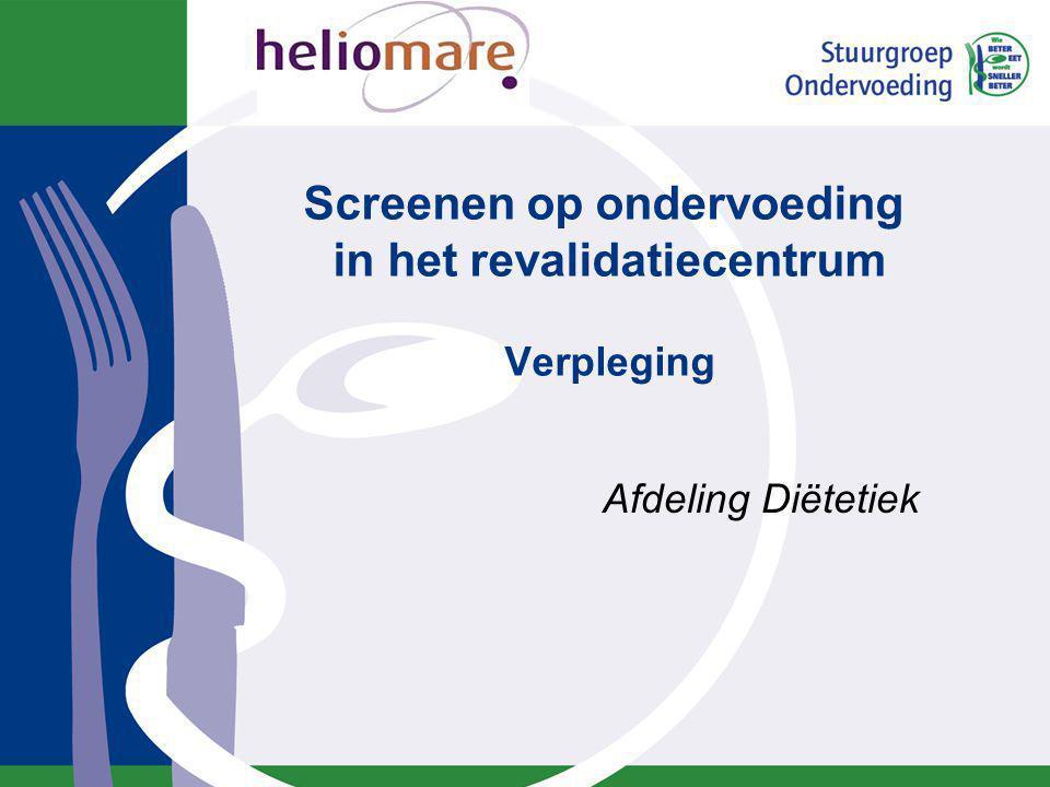 Inhoud Ondervoeding SNAQ 65+ screeningsinstrument Werkinstructie verpleging Formulieren Aandachtspersonen Afronding
