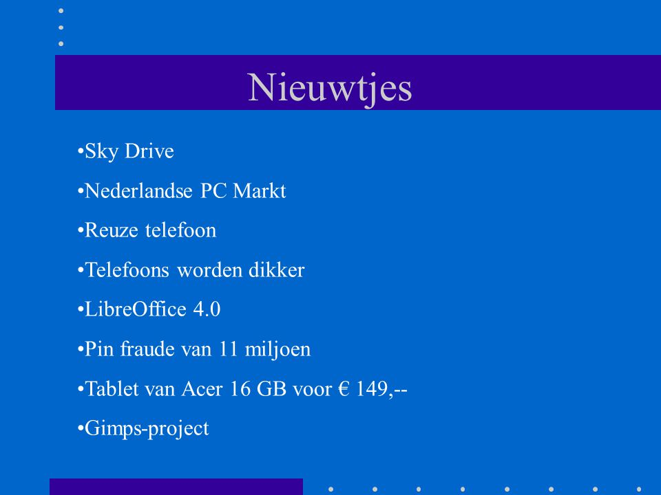 Sky Drive Als je je bestanden automatisch tussen al je pc s wilt synchroniseren, installeer dan de gratis bureaublad-app op alle computers met Windows 8, Windows 7 of Vista, en Mac OS X Lion.