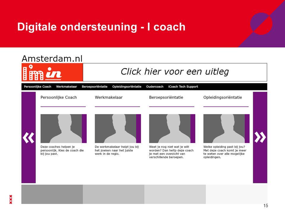 Digitale ondersteuning - website Via webportaal: www.amsterdam.nl/kiesjembowww.amsterdam.nl/kiesjembo 16