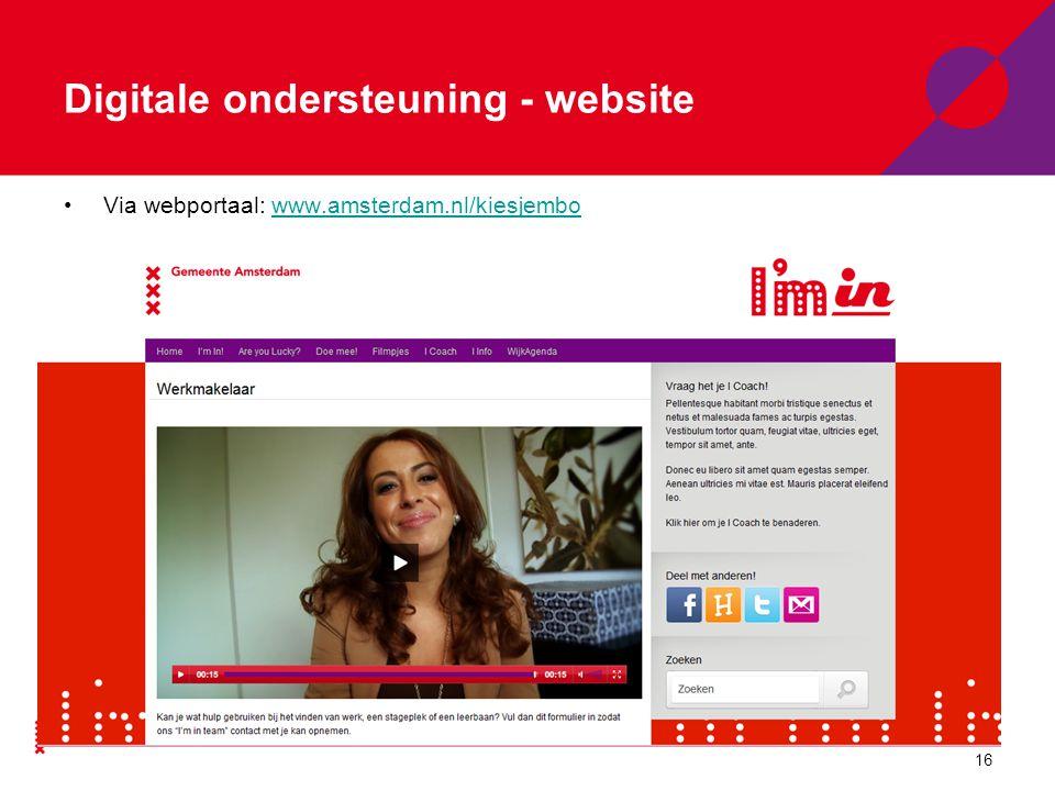 Digitale ondersteuning - website Aanmelden programmaonderdeel/ opleiding.