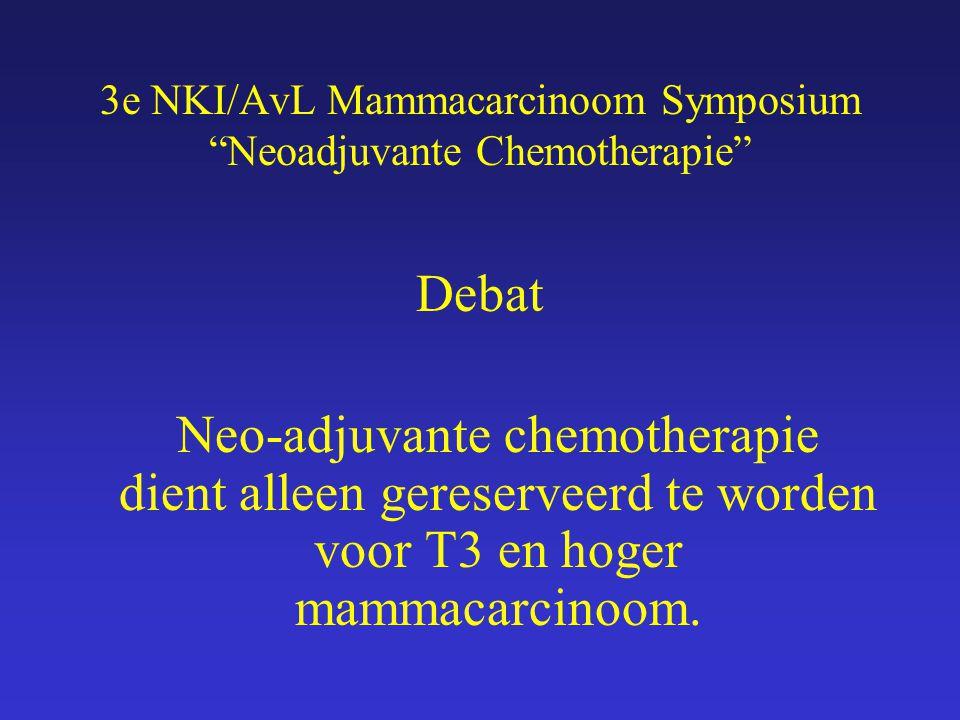 Upfront chemotherapie alleen T3 en hoger? TEGEN Emiel Rutgers Chirurg NKI/AvL