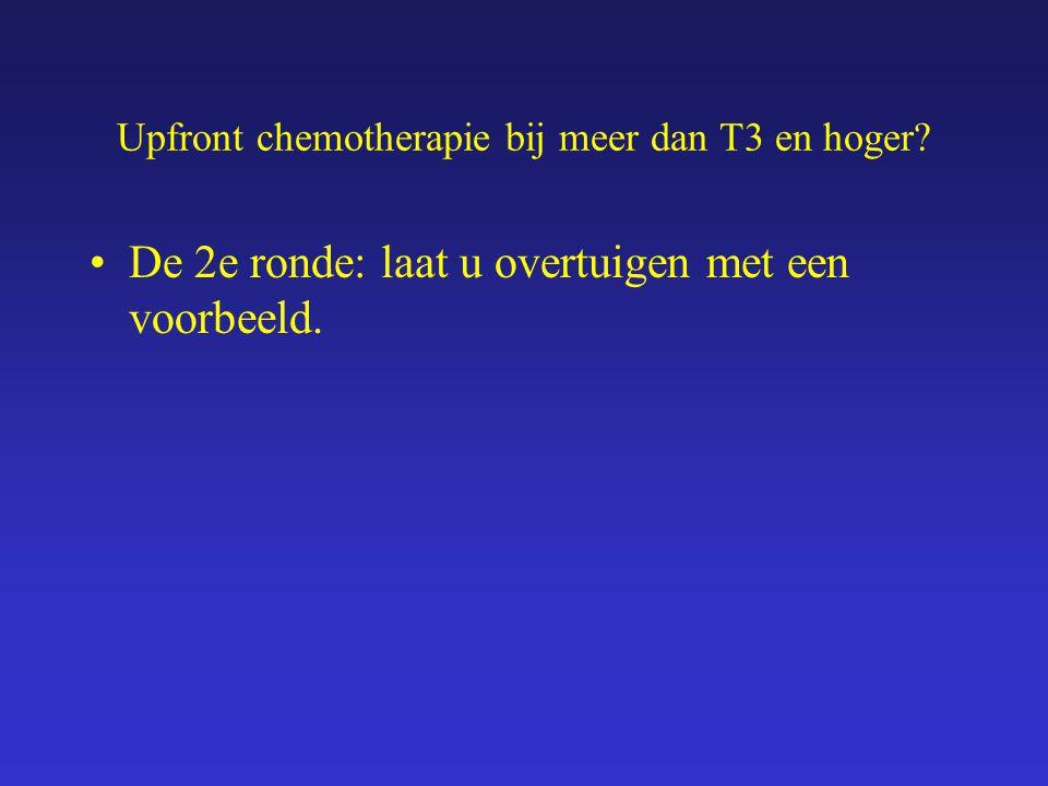 Een voorbeeld Mw B-H, uit 1952 Eind 2000, 48 jaar Zelf knobbel gevoeld in de linker borst Bij lichamelijk onderzoek craniaal van tepel suspecte tumor van rium 3 cm., suspecte klier in oksel, 2 cm Beeldvorming: Dikke naald biopt: IDC, ER, PgR, HER-2 negatief CP klier oksel: positief