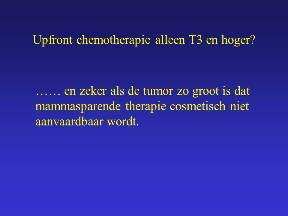 Upfront chemotherapie alleen T3 en hoger? Enkele voorbeelden: