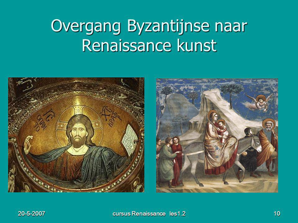 20-5-2007cursus Renaissance les1.211 Cimabue Giotto ( 1272-1302) (1267-1337)