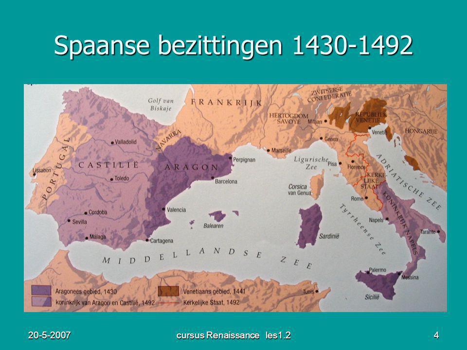 20-5-2007cursus Renaissance les1.25 Expansie noordelijke stadstaten