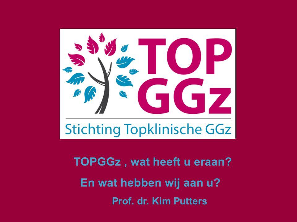 Inhoud:  Inleiding  Wat heeft TOPGGz aan:  De patiënt  De professional  De GGZ Nederland  De zorgverzekeraar(s)  De overheid en de politiek  Conclusies