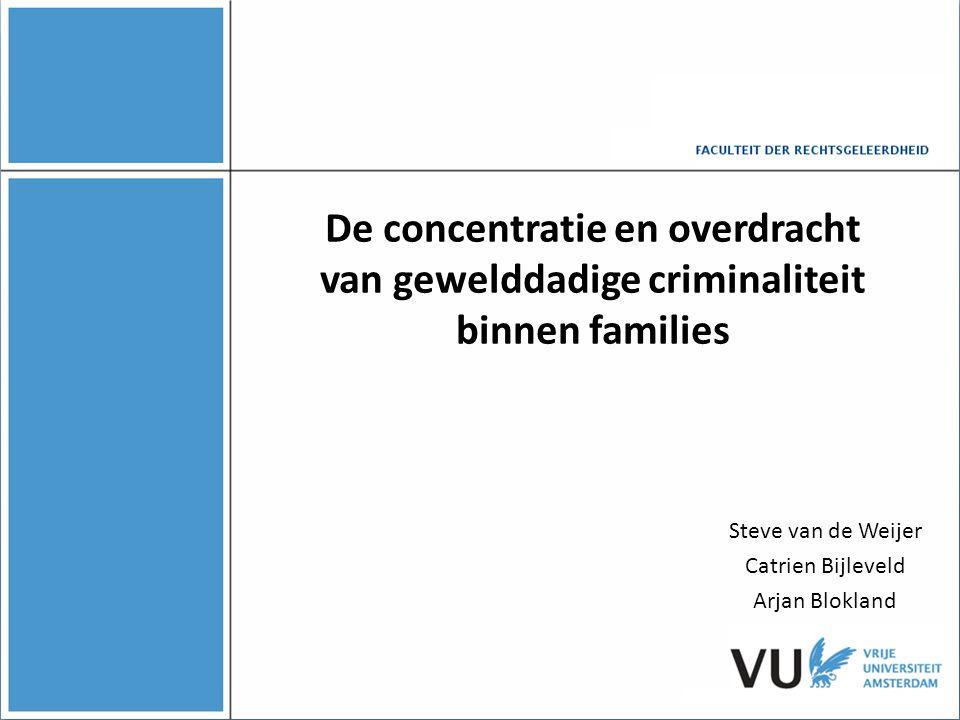 Inleiding  Algemene opvatting: 'Criminaliteit zit in de familie'  Tot voor kort weinig empirisch bewijs  Schaarste aan multigenerationele studies