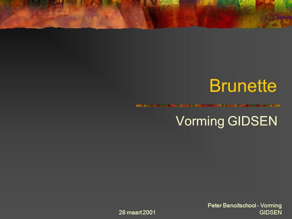 28 maart 2001 Peter Benoitschool - Vorming GIDSEN Brunette Vorming GIDSEN