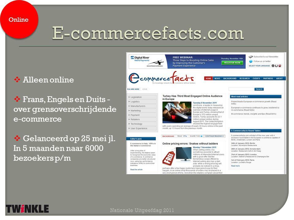 Nationale Uitgeefdag 2011 Spaanse e-commerce titel Gemodelleerd naar Twinkle (digitaal, print en events) Nog dit jaar te lanceren Print / online