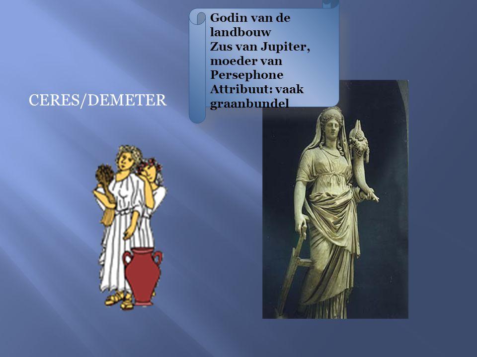 VULCANUS/HEFAISTOS God van de smeedkunst Getrouwd met Venus Attributen: vuur en hamer