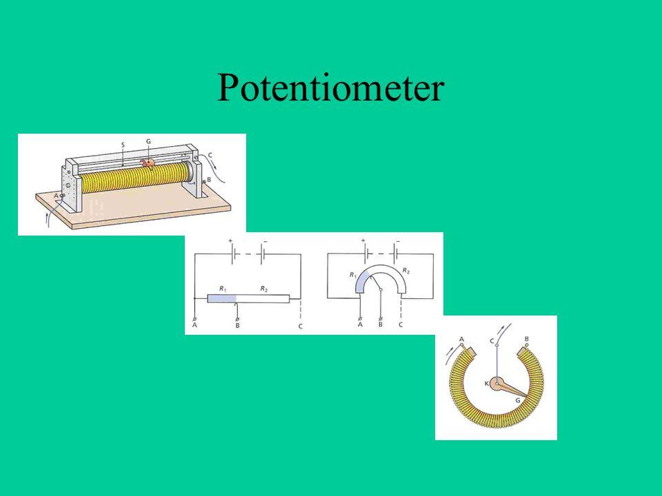 Transformator Verandering van spanning (zowel naar boven (hoogspanning) als naar beneden (veiligheid) Scheidingstransforma- tor: