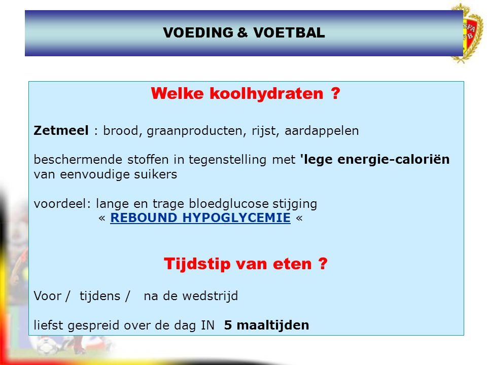 REBOUND HYPOGLYCEMIE Bloedglucose Tage suikers Snelle suikers GLYCEMISCHE INDEX