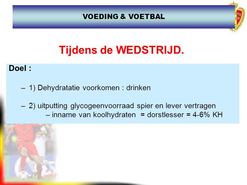 www.joostdesender.be Na de WEDSTRIJD Doel 1) Herstel van de glycogeenconcentratie 2) Hydratatie Hoe.