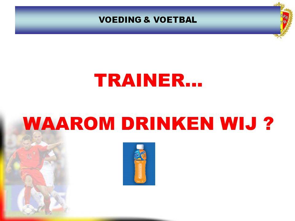 www.joostdesender.be TRAINER WAAROM DRINKEN WE .SPORTDRANKEN Een sporter moet veel drinken.