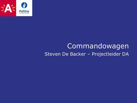 Commandowagen Steven De Backer – Projectleider DA.