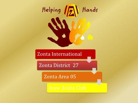 Zonta InternationalZonta District 27Zonta Area 05Jouw Zonta Club.