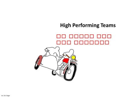 High Performing Teams De Kunst van het Bewegen drs. Eric Slager.