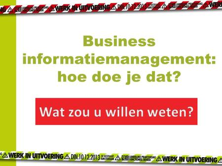 Business informatiemanagement:
