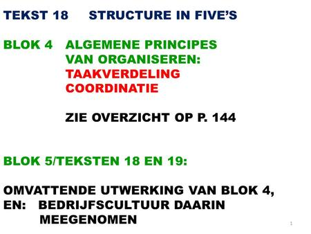 TEKST STRUCTURE IN FIVE'S