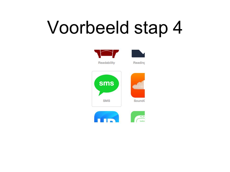 Voorbeeld stap 5