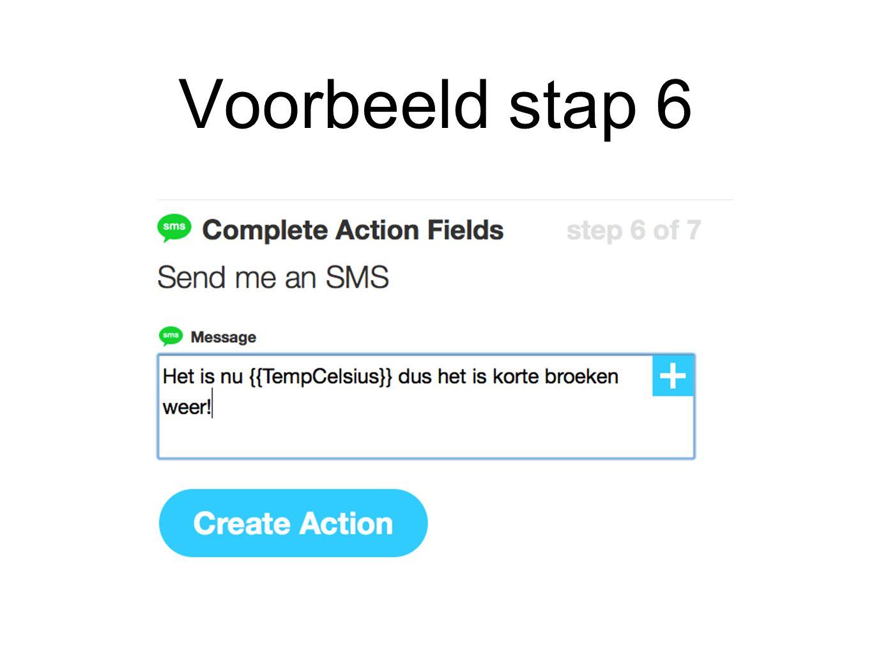 Voorbeeld stap 7