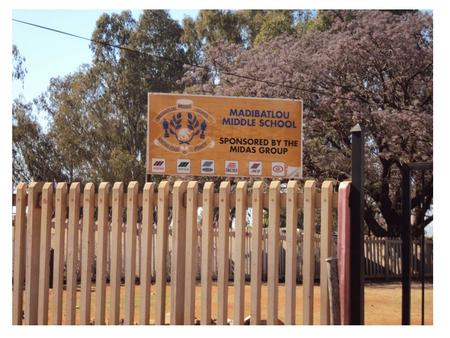 Madibatlou Middle School.