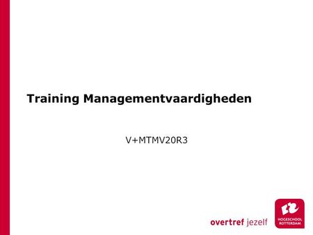 Training Managementvaardigheden