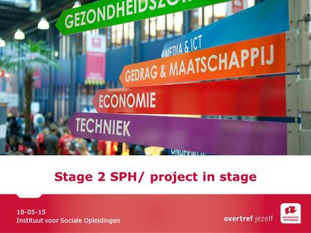 Stage 2 SPH/ project in stage 18-05-15 Instituut voor Sociale Opleidingen.